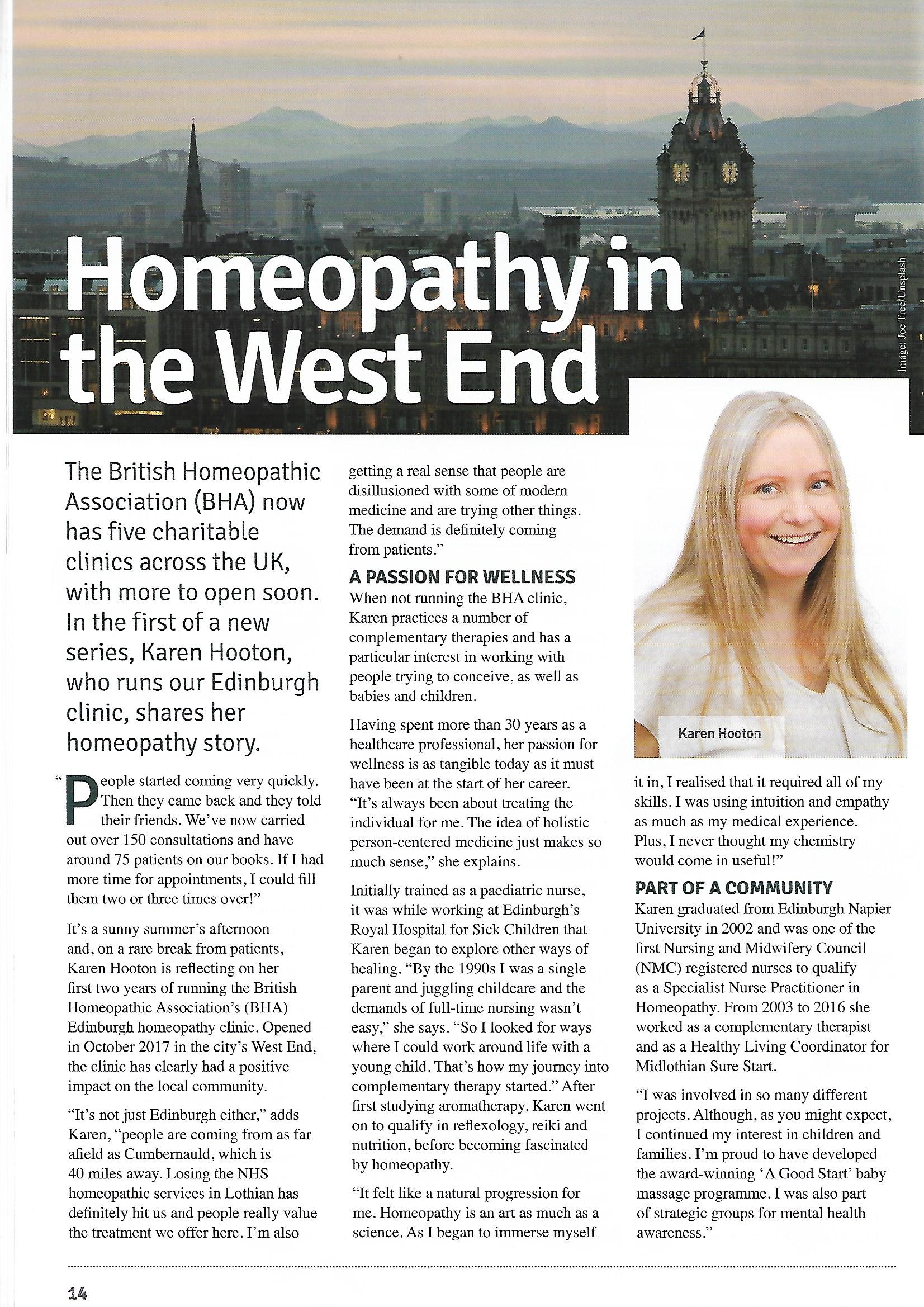 Journal article for BHA clinic in Edinburgh